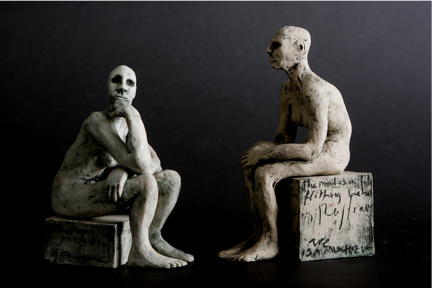 """Image: Clodagh Redden, """"Two Figures."""" Photograph by Emma Jervis."""
